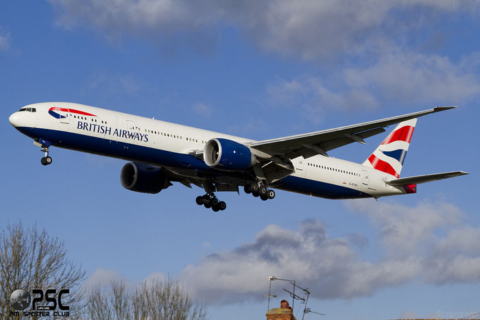 G-STBA B777-336ER 40542/879 British Airways @ London Heathrow Airport 107.02.2014  © Piti Spotter Club Verona
