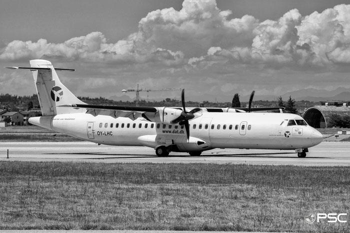 OY-LHC ATR72-212 405 Danish Air Transport @ Aeroporto di Verona 01.07.2017  © Piti Spotter Club Verona