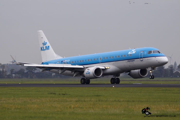 PH-EZI ERJ190STD 19000322 KLM Cityhopper @ Amsterdam Airport - 24.10.2015  © Piti Spotter Club Verona