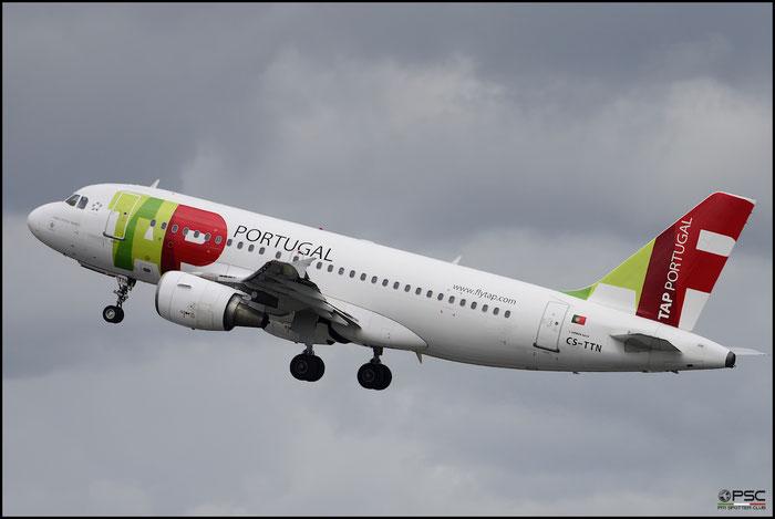 CS-TTN A319-111 1120 TAP Portugal - Transportes Aéreos Portugueses @ Manchester Airport 21.06.2015 © Piti Spotter Club Verona