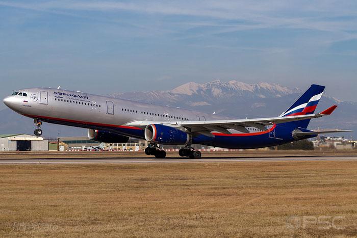 VQ-BPK A330-343E 1345 Aeroflot @ Aeroporto di Verona 16.02.2019  © Piti Spotter Club Verona
