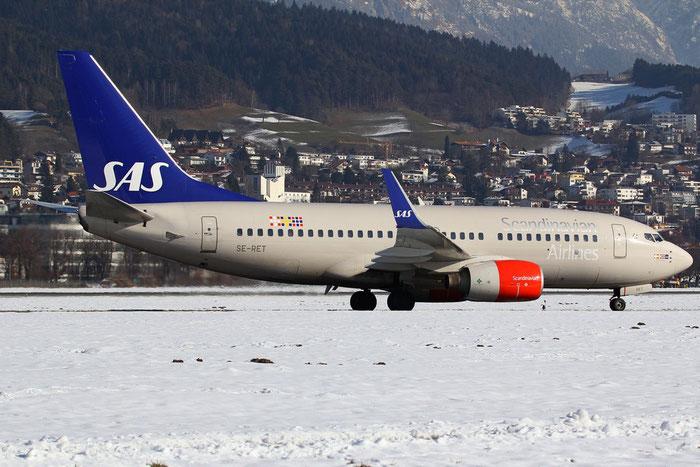SE-RET B737-76N 32734/1090 SAS Scandinavian Airlines - Scandinavian Airlines System @ Innsbruck Airport 26.01.2013 © Piti Spotter Club Verona