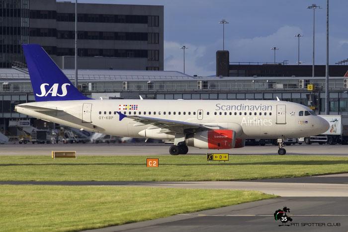 OY-KBP A319-132 2888 SAS Scandinavian Airlines - Scandinavian Airlines System @ Manchester Airport 21.06.2015 © Piti Spotter Club Verona