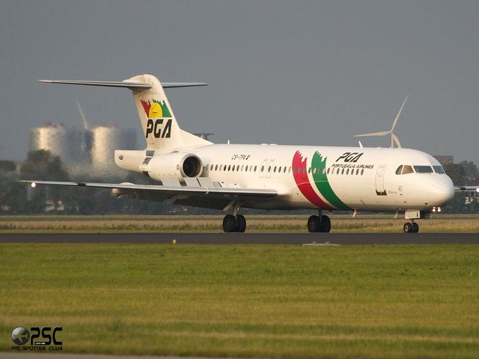CS-TPA Fokker 100 11257 PGA Portugalia Airlines @ Amsterdam Airport 20.09.2013 © Piti Spotter Club Verona