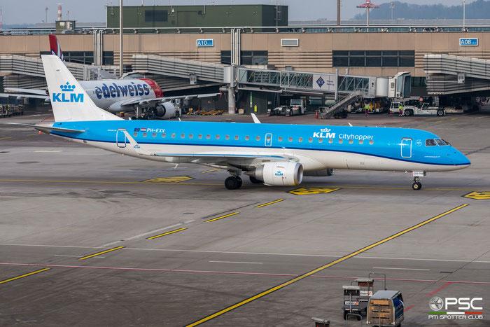 PH-EXV  ERJ190STD  19000750  KLM Cityhopper @ Zurich 2019 © Piti Spotter Club Verona
