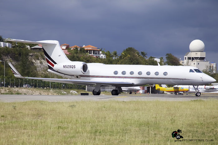 N529QS G550 5156 Gulfstream Aerospace Corp. @ Sint Maarten Airport 05.03.2016 © Piti Spotter Club Verona