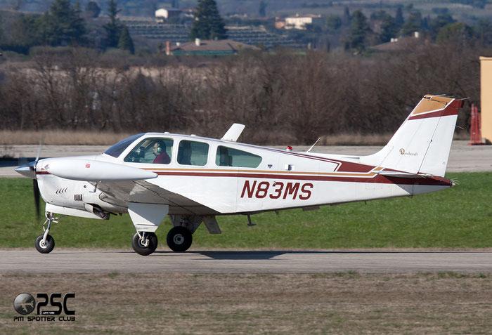 N83MS Beech F33A Bonanza BE33 CE-784 @ Aeroporto Verona Boscomantico © Piti Spotter Club Verona
