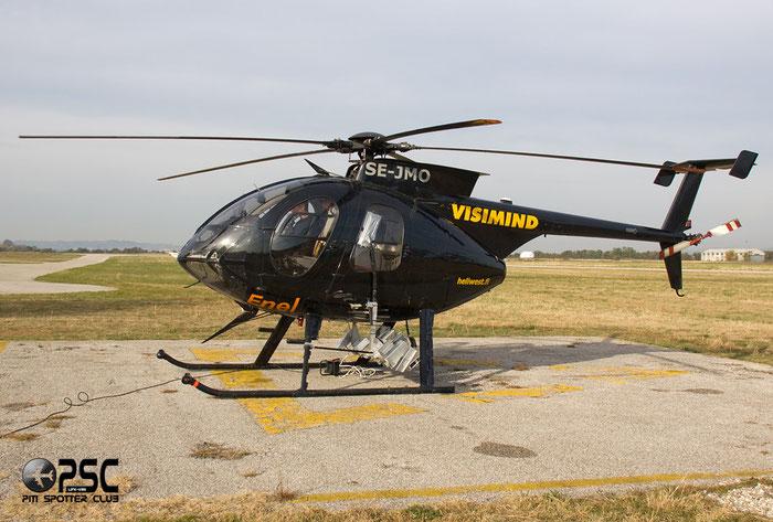 SE-JMO - Visimind - Hughes 500E (369E) @ Aeroporto Verona Boscomantico © Piti Spotter Club Verona