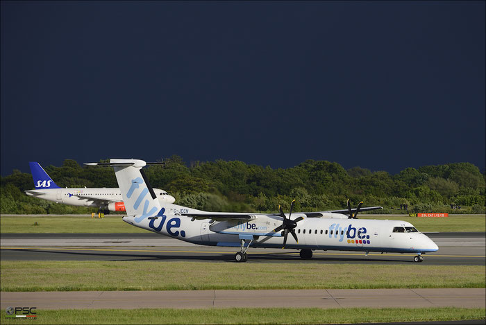 G-JECN DHC-8-402 4120 Flybe - British European @ Manchester Airport 21.06.2015  © Piti Spotter Club Verona