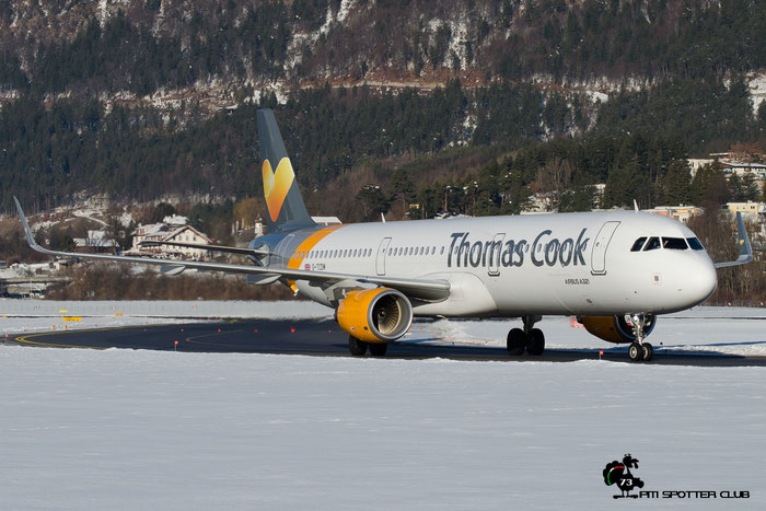 G-TCDM A321-211 7003 Thomas Cook Airlines @ Innsbruck Airport 28.01.2017 © Piti Spotter Club Verona