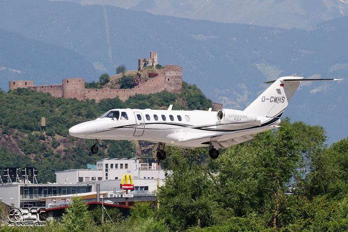 D-CMHS Ce525B 525B-0161 MHS Helicopter Flugservice GmbH @ Aeroporto di Bolzano © Piti Spotter Club Verona
