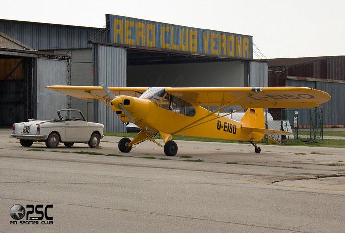 D-EISO Piper PA-18 PA18 @ Aeroporto Verona Boscomantico © Piti Spotter Club Verona