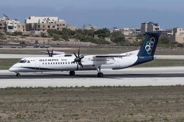 SX-OBA DHC-8-402 4267 Olympic Air @ Malta Airport 08.2015 © Piti Spotter Club Verona