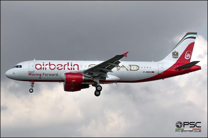 D-ABDU A320-214 3516 Air Berlin @ Milano Linate Airport 11.07.2017 © Piti Spotter Club Verona