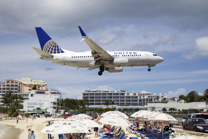 N17719 B737-724 28938/195 United Airlines @ Sint Maarten Airport 05.03.2016 © Piti Spotter Club Verona