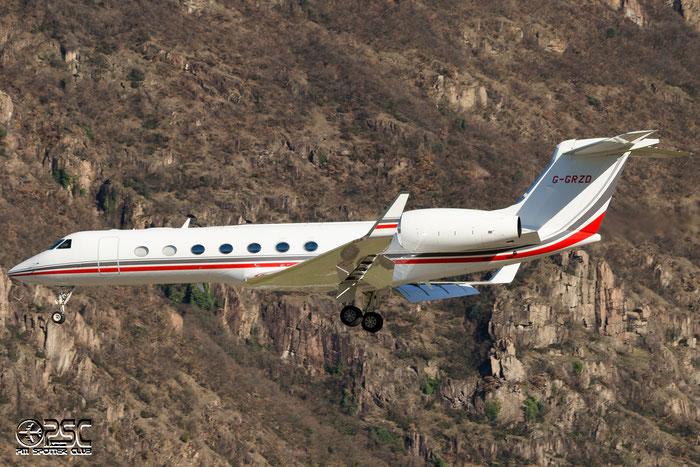 G-GRZD G550 5315 TAG Aviation (UK) Ltd. @ Aeroporto di Bolzano © Piti Spotter Club Verona