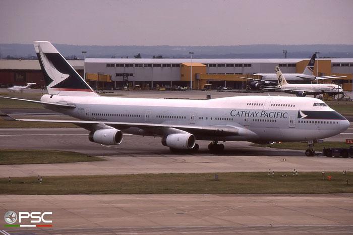 B-HOS  B747-467  24850/788  Cathay Pacific Airways  @ London Heathrow © Piti Spotter Club Verona