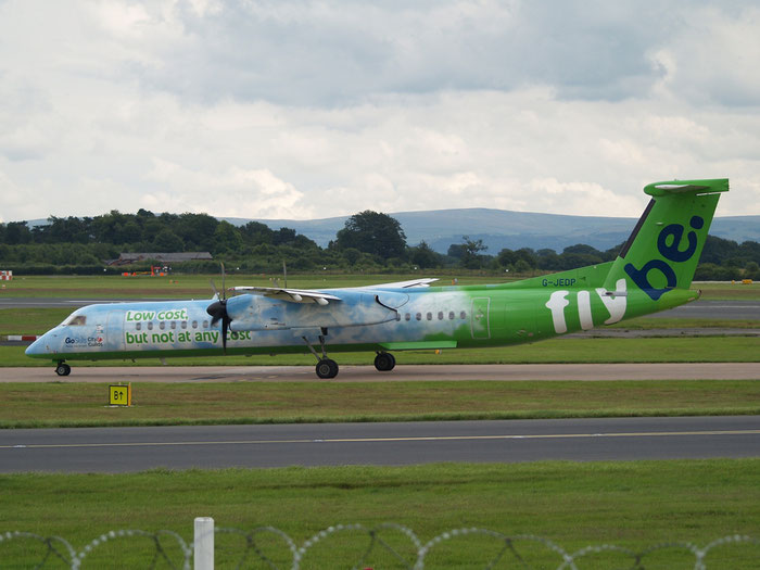 G-JEDP DHC-8-402 4085 Flybe - British European  @ Manchester Airport 20.07.2012  © Piti Spotter Club Verona