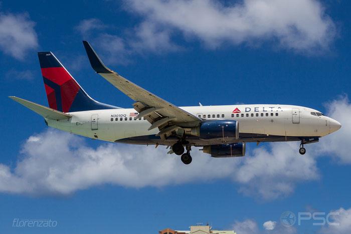 N301DQ B737-732 29687/2667 Delta Air Lines @ Sint Maarten Airport 09.04.2016 © Piti Spotter Club Verona