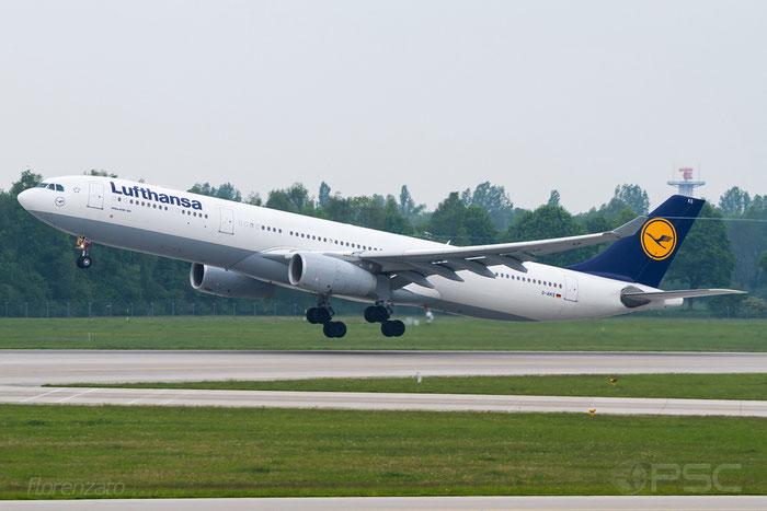 D-AIKS A330-343E 1497 Lufthansa @ Munich Airport 15.05.2016 © Piti Spotter Club Verona