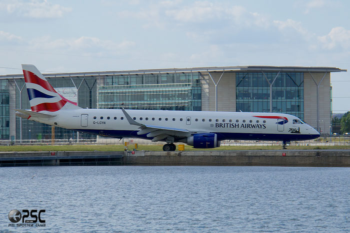 G-LCYN ERJ190SR 19000392 BA CityFlyer @ London City Airport 13.06.2014  © Piti Spotter Club Verona