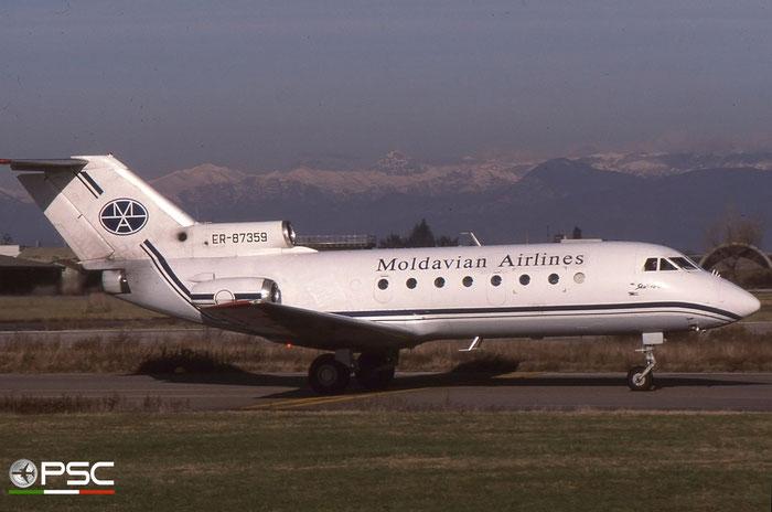 ER-87359 Moldavian Airlines Yakovlev Yak-40 @ Aeroporto di Verona © Piti Spotter Club Verona