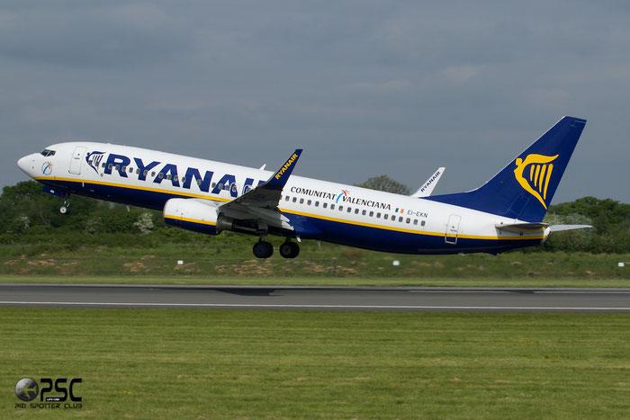 EI-EKN B737-8AS 35026/3187 Ryanair @ Manchester Airport 13.05.2014 © Piti Spotter Club Verona