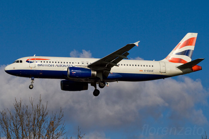 G-EUUR A320-232 2040 British Airways @ London Heathrow Airport 08.02.2013 © Piti Spotter Club Verona