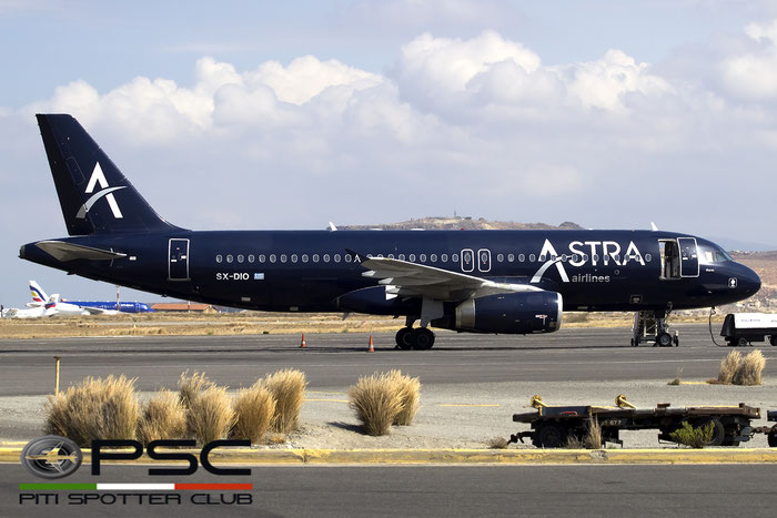 SX-DIO A320-232 527 Astra Airlines @ Heraklion Airport 09.2016 © Piti Spotter Club Verona