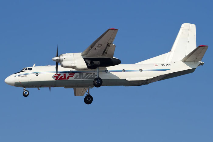 YL-RAI 9608 An-26B YL-RAI RAF Avia @ Bologna Airport 23.02.2012 © Piti Spotter Club Verona