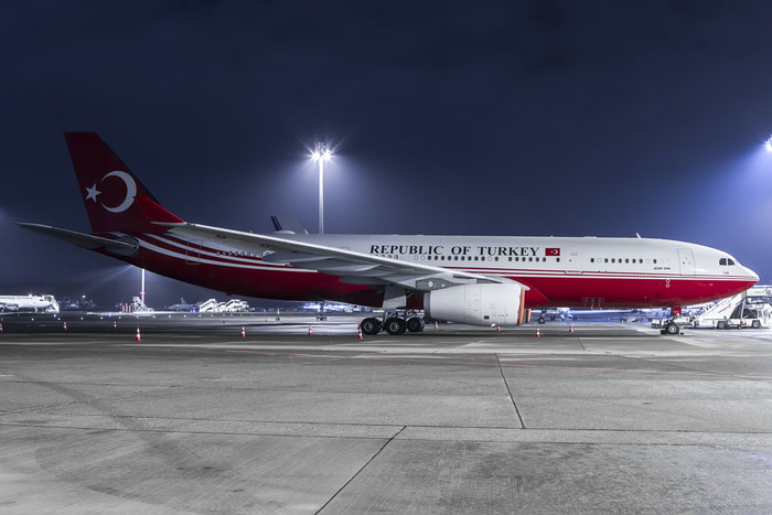 TC-TUR A330-243 (ACJ) 1240 Government of Turkey @ Zurich Airport 20.01.2016 © Piti Spotter Club Verona