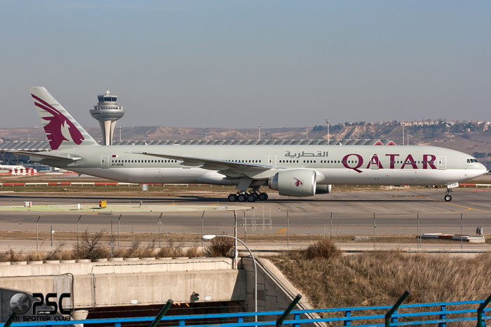 A7-BAM B777-3DZER 38245/922 Qatar Airways @ Madrid Airport 01.2012  © Piti Spotter Club Verona