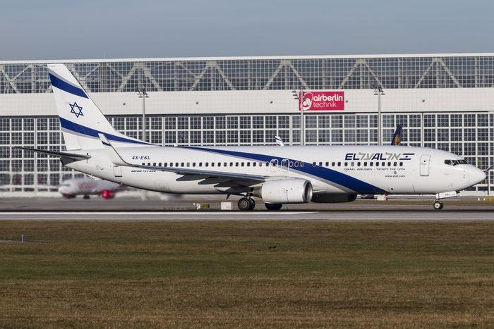 4X-EKL B737-85P 35487/2941 El Al Israel Airlines @ Munich Airport 28.12.2015 © Piti Spotter Club Verona