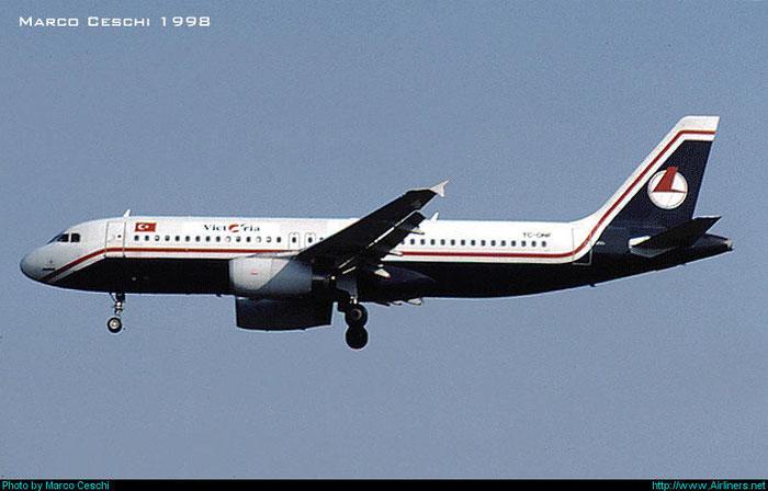 TC-ONF  A320-231  444  Victoria Airlines  @ Aeroporto di Verona © Piti Spotter Club Verona