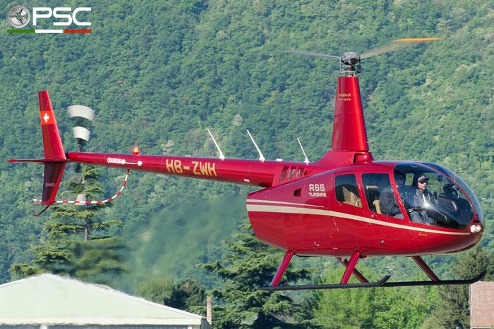 HB-ZWH Private Robinson R66 Turbine @ Aeroporto di Bolzano © Piti Spotter Club Verona