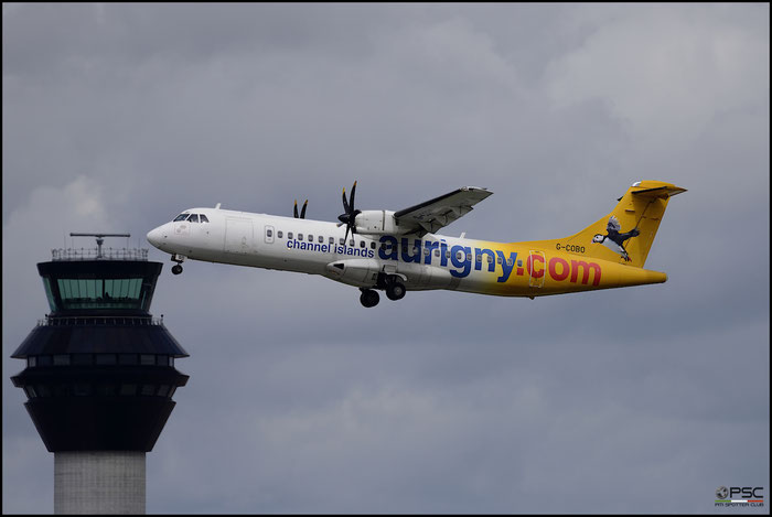 G-COBO ATR72-212A 852 Aurigny Air Services @ Manchester Airport 21.06.2015 © Piti Spotter Club Verona