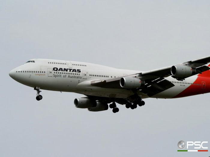 VH-OJR B747-438 25547/936 QANTAS @ London Heathrow Airport 25.05.2009 © Piti Spotter Club Verona