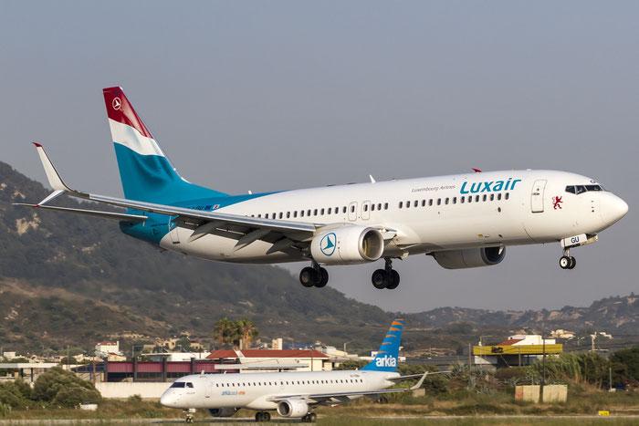 LX-LGU B737-8C9 41047/4272 Luxair @ Rhodes Airport 11.07.2015 © Piti Spotter Club Verona