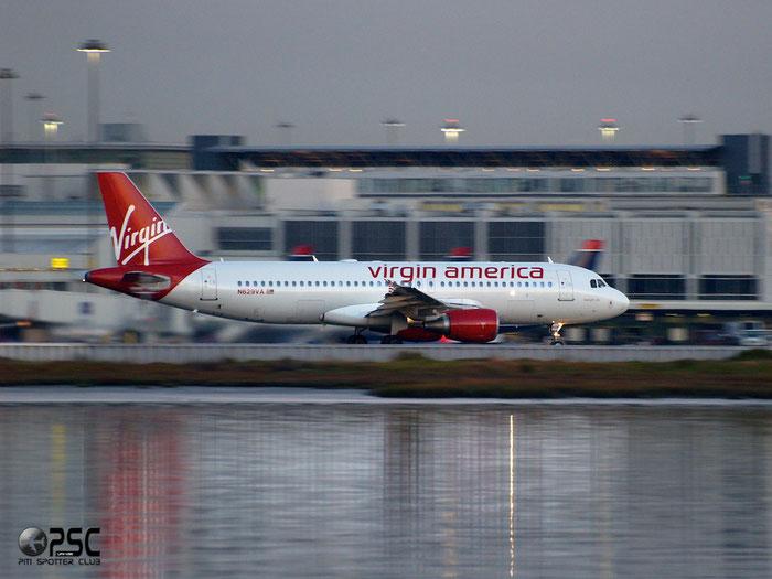 N629VA A320-214 3037 Virgin America @ San Francisco Airport 14.10.2013 © Piti Spotter Club Verona
