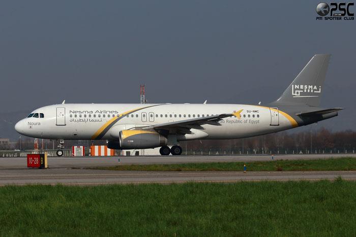 SU-NMC A320-232 2676 Nesma Airlines @ Bergamo Airport 10.03.2014 © Piti Spotter Club Verona