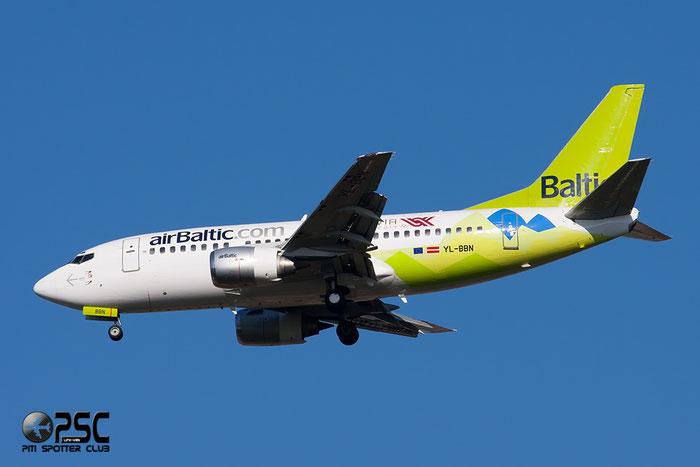 YL-BBN B737-522 26683/2368 airBaltic @ Milano Malpensa Airport 06.04.2014 © Piti Spotter Club Verona