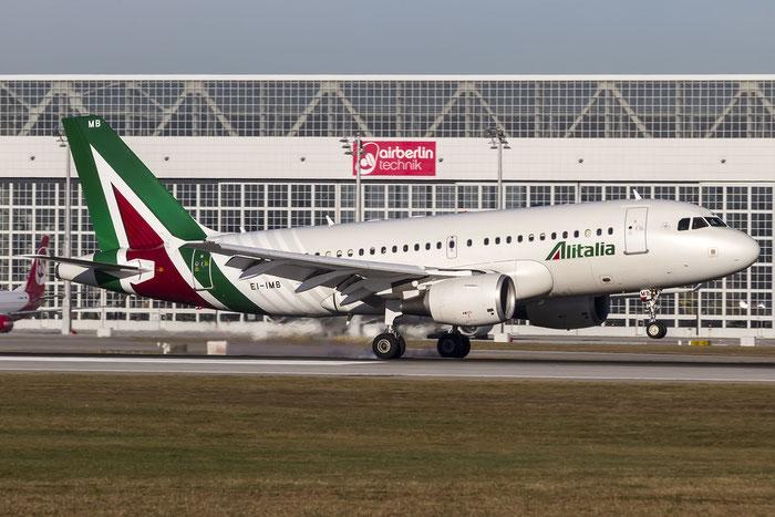 EI-IMB A319-112 2033 Alitalia @ Munich Airport 28.12.2015 © Piti Spotter Club Verona