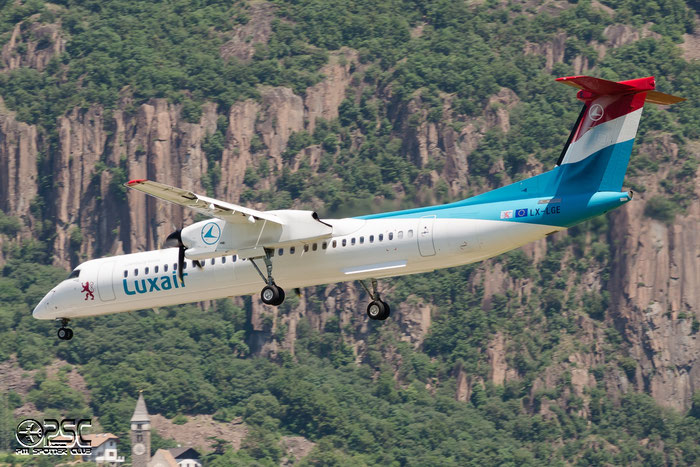 LX-LGE DHC-8-402 4284 Luxair @ Aeroporto di Bolzano © Piti Spotter Club Verona