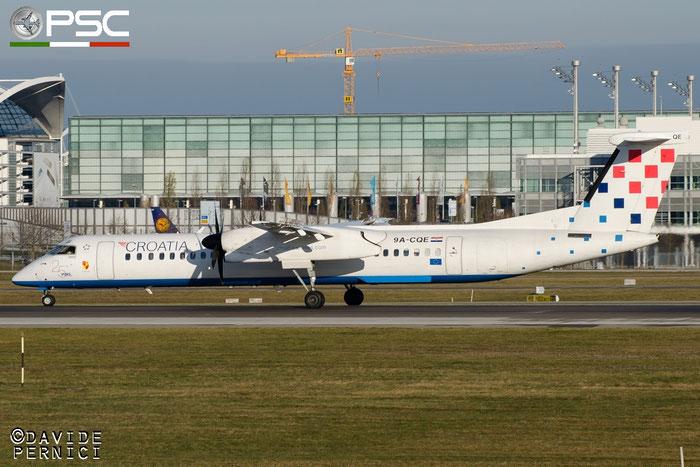 9A-CQE DHC-8-402 4300 Croatia Airlines @ Munich Airport 13.12.2015 © Piti Spotter Club Verona