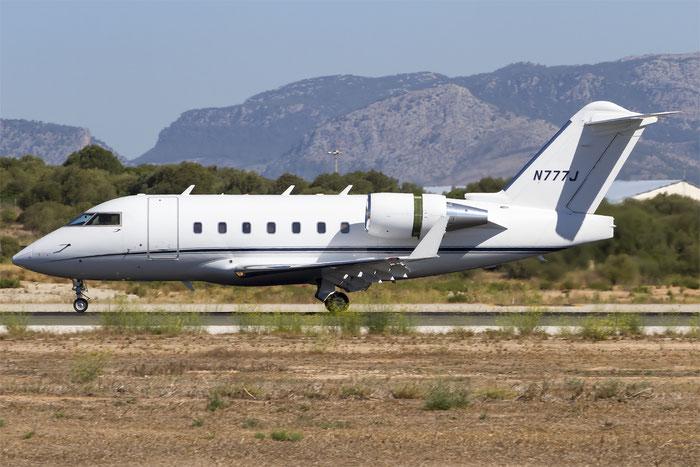 N777J CL-604 5433 The Whitewind Co. @ Palma de Mallorca Airport 07.2014 © Piti Spotter Club Verona