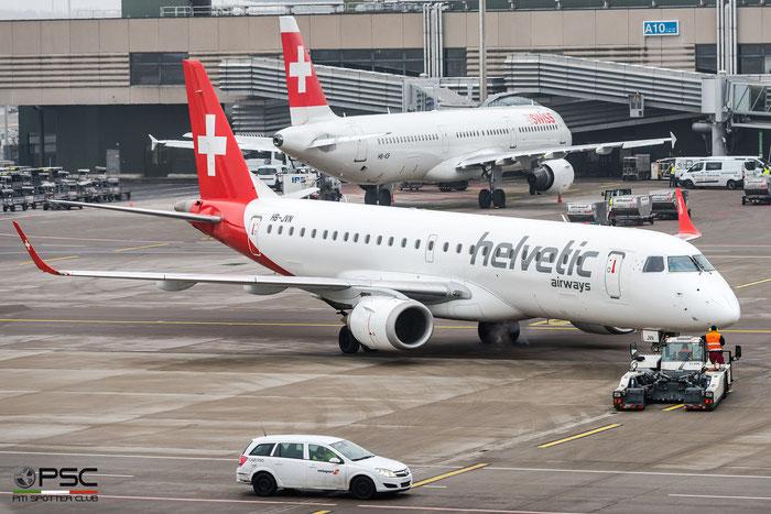 HB-JVN ERJ190LR 19000285 Helvetic Airways @ Zurich Airport 21.01.2017 © Piti Spotter Club Verona