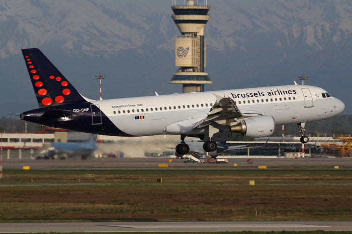 OO-SNF A320-214 2810 Brussels Airlines @ Milano Malpensa Airport 14.01.2015 © Piti Spotter Club Verona