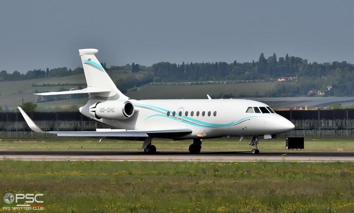 OO-GHE Falcon 2000LX 243 Abelag Aviation SA @ Aeroporto di Verona 12.04.2017  © Piti Spotter Club Verona