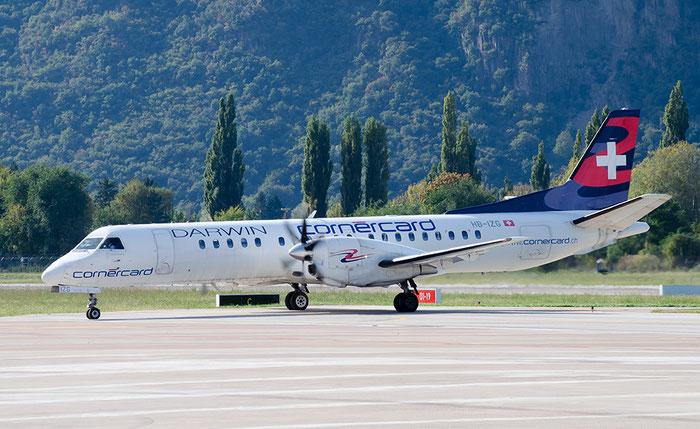 HB-IZG Saab 2000 2000-010 Darwin Airline @ Aeroporto di Bolzano © Piti Spotter Club Verona