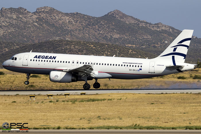 SX-DVJ  A320-232  3365  Aegean Airlines @ Athens 2019 © Piti Spotter Club Verona
